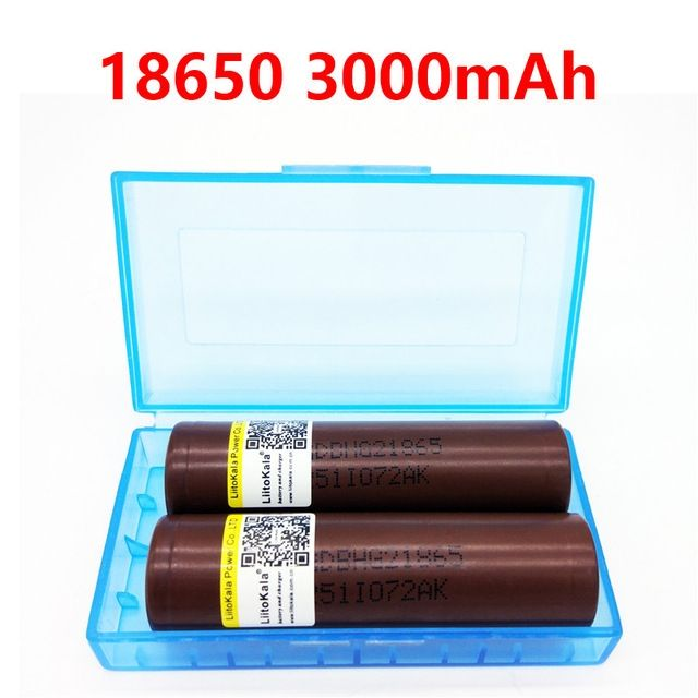 2pcs LiitoKala Lii-30A HG2 18650 3000mah electronic cigarette Rechargeable batteries power high discharge,30A large current