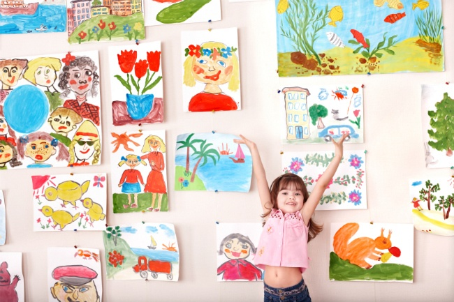 Several great tips for organizing and displaying your child's art work.