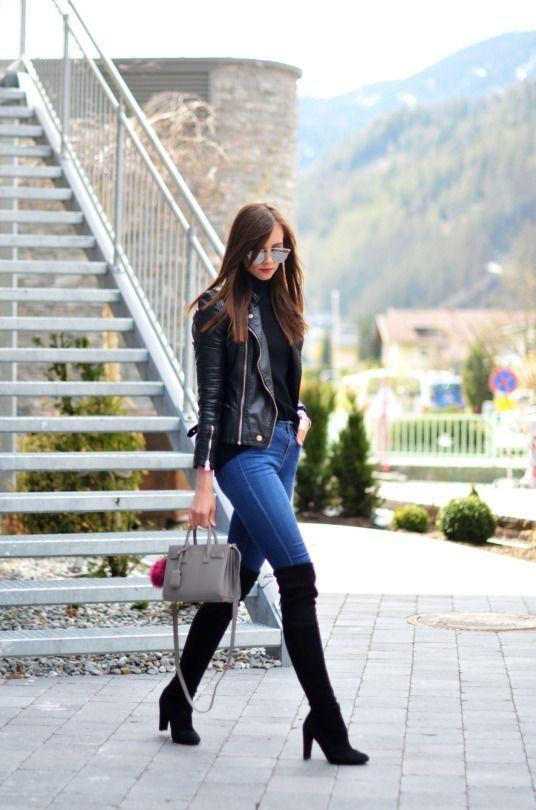 21cc0c904 como usar botas largas con jeans