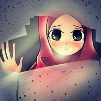 Sad anime hijabi