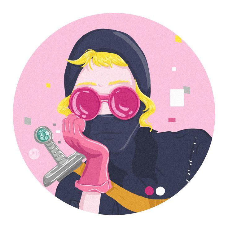 Sam Vampire with Balaclava #illustration #hijab #illustratedladies