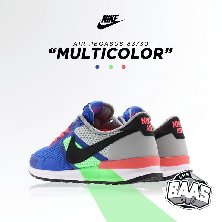 """Nike Air Pegasus 83/30 """"Multicolor""""   HEAT!   www.sneakerbaas.nl   #Nike #Air #Pegasus #Multicolor"""