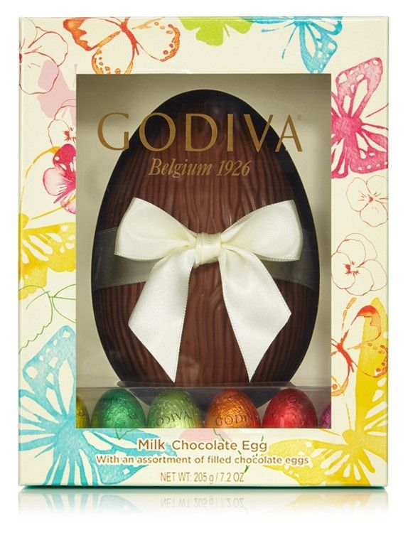 51 best easter eggs images on pinterest easter gift gift bags a luxury boxed easter egg from godiva containing a hollow milk chocolate egg complete with negle Images