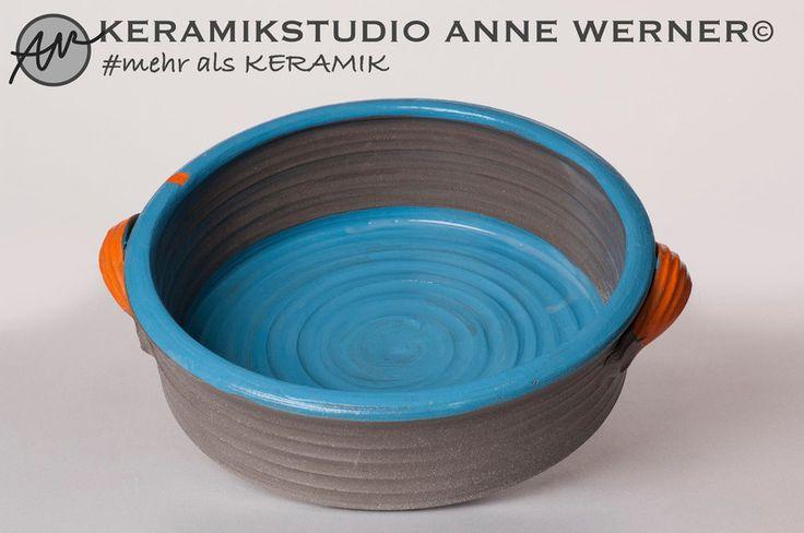 Backformen - Auflaufform#ORANGE - ein Designerstück von KERAMIKSTUDIO_ANNE_WERNER bei DaWanda