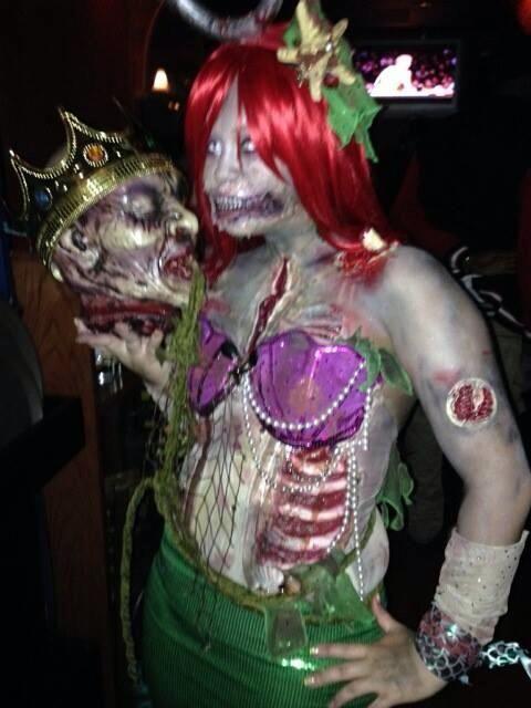 Zombie Little Mermaid Costume Mermaid Zombie Costume...