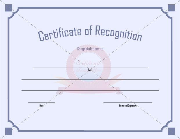 12 best RECOGNITION CERTIFICATE TEMPLATES images on Pinterest - blank certificate of recognition