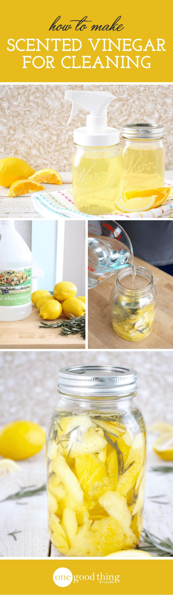 How To Make Scented Cleaning Vinegar - One Good Thing by Jillee