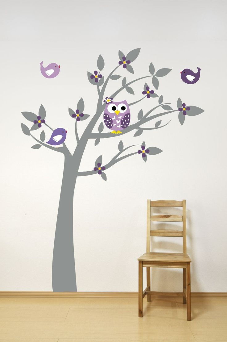 Owl decor for baby room - Tree Wall Decal Owl Decor Playroom Decor Playroom By Lucylews 75 00
