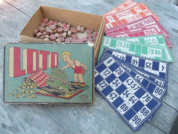 Vintage French Loto game by foreverfrench on Etsy