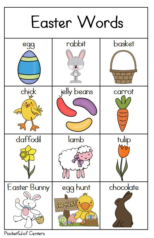 Easter Writing Center Mini-Packet