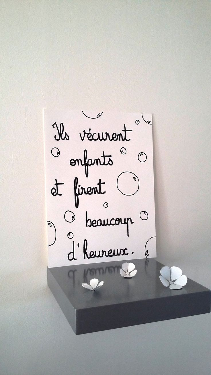 "affiche citation "" ils vécurent enfants ..."" : Affiches, illustrations, posters…"