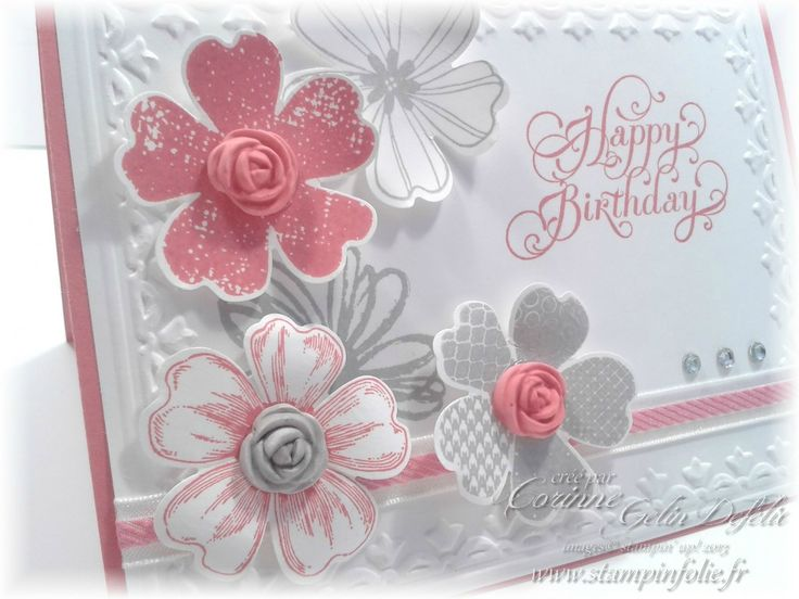 Stampin' Up! stamp set Flower Shop, matching pansy punch, framed tulips embossing folder, Simply Pressed clay, Blossoms Clay mold