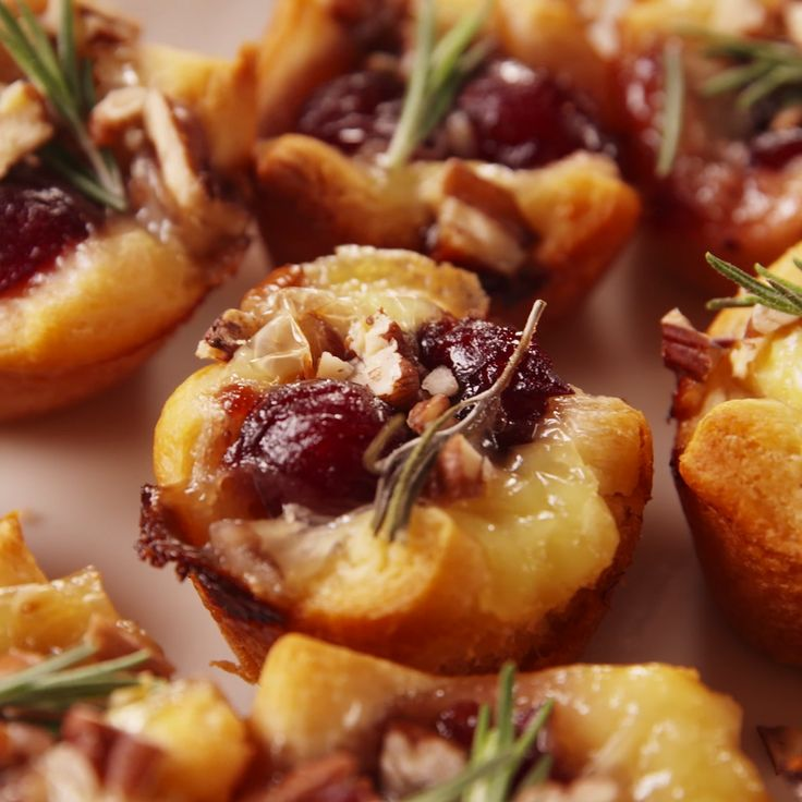 Cranberry Brie bites using crescent dough