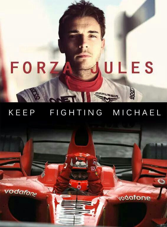 Forza Jules Bianchi! ♡ Keep fighting Michael Schumacher! ♡