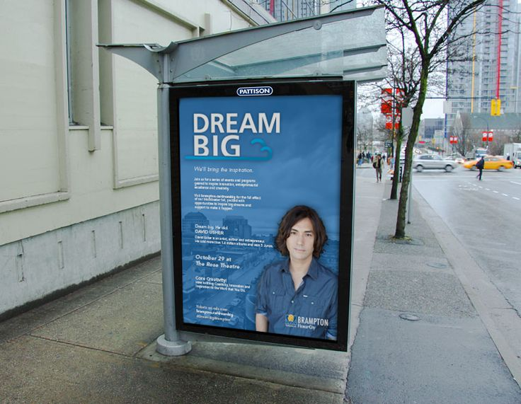 Bus Shelter Ad for the City of Brampton