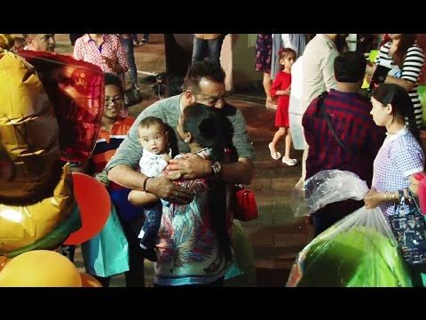 Sanjay Dutt PAMPERING Salman Khan's cute nephew Ahil Sharma.