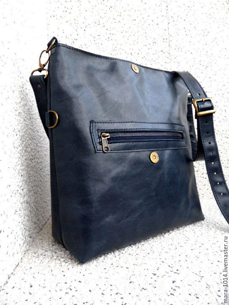 Купить МЕГАПОЛИС сумка через плечо - тёмно-синий, синяя сумка, синяя сумочка