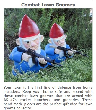 Keep Your Home Safe And Sound With These Combat Lawn Gnomes That Are Armed  With Rocket Launchers, And Grenades.