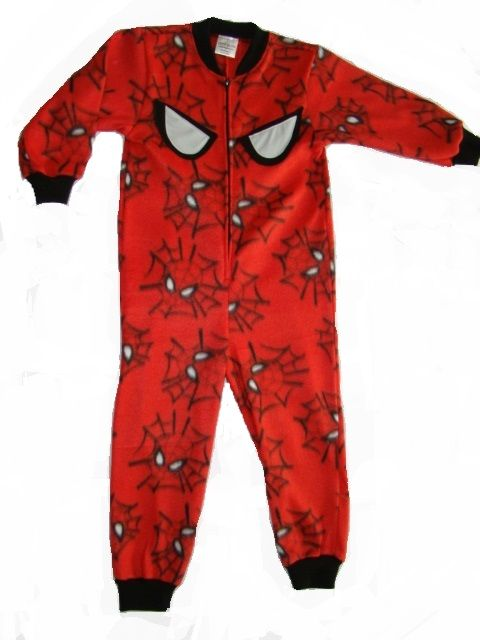 Spiderman onesie with GLOW in the DARK spidy eyes. Onesie + GLOW in the DARK = GLOWSIE = endless amount of fun for children