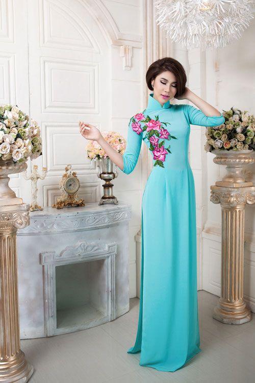 Áo dài xanh mát ngọt ngào