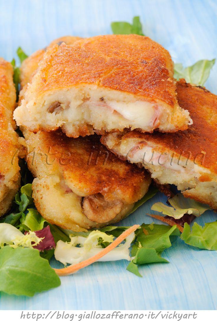 Cannoli di patate con funghi e prosciutto ricetta sfiziosa vickyart arte in cucina
