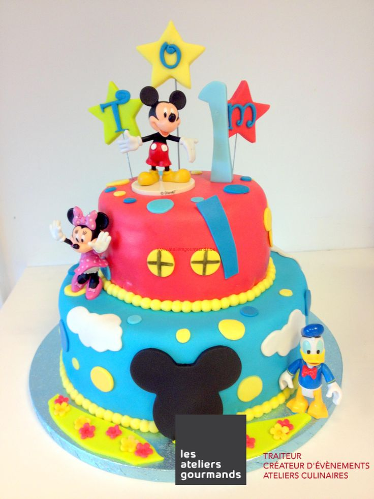 14 best images about gateaux mickey on pinterest mickey mouse birthday cake nancy dell 39 olio - Gateau mickey facile ...