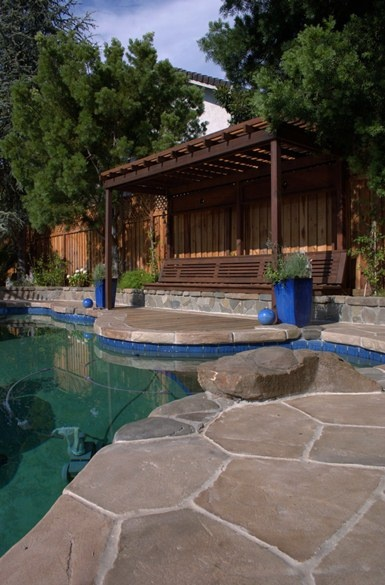 South Bay Area Concrete Resurfacing, Pool Deck, Flagstone