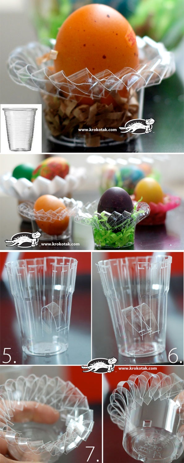 Plastic Cup and Container EGG STANDS