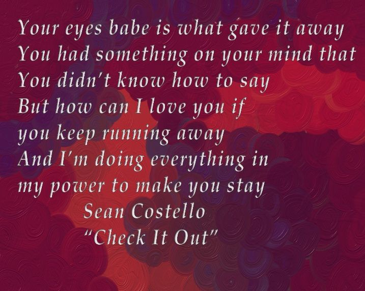 Over and i look in your eyes lyrics