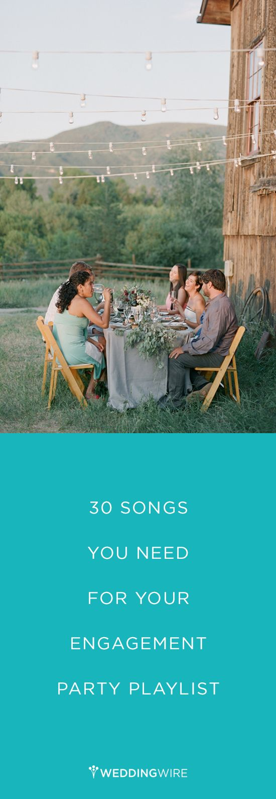 Engagement Party Playlist - 30 songs you need for your engagement party by @weddingwire {Laura Murray Photography}