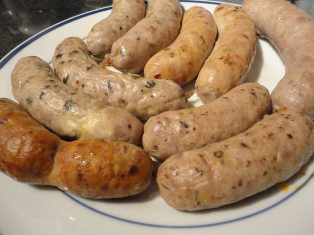 Baked Sausage (Sweet Italian, Hot Italian, British Banger, American Coujntry Breakfast, Chorizo Spanish Style, Italian Cheese & Pork)