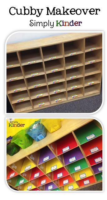 Cubby Makeover by Simply Kinder!  #SimplyKinder  Great for Kindergarten!