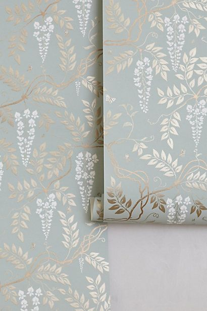 Anthropologie wallpaper... would love this for an accent wall in the living room.