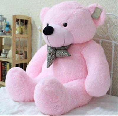 """#TeddyBears #Teddy #Bears 39"""" Stuffed Giant 100CM Big Pink Plush Teddy Bear Huge Soft 100% Cotton Doll Toy #TeddyBears #Teddy #Bears"""