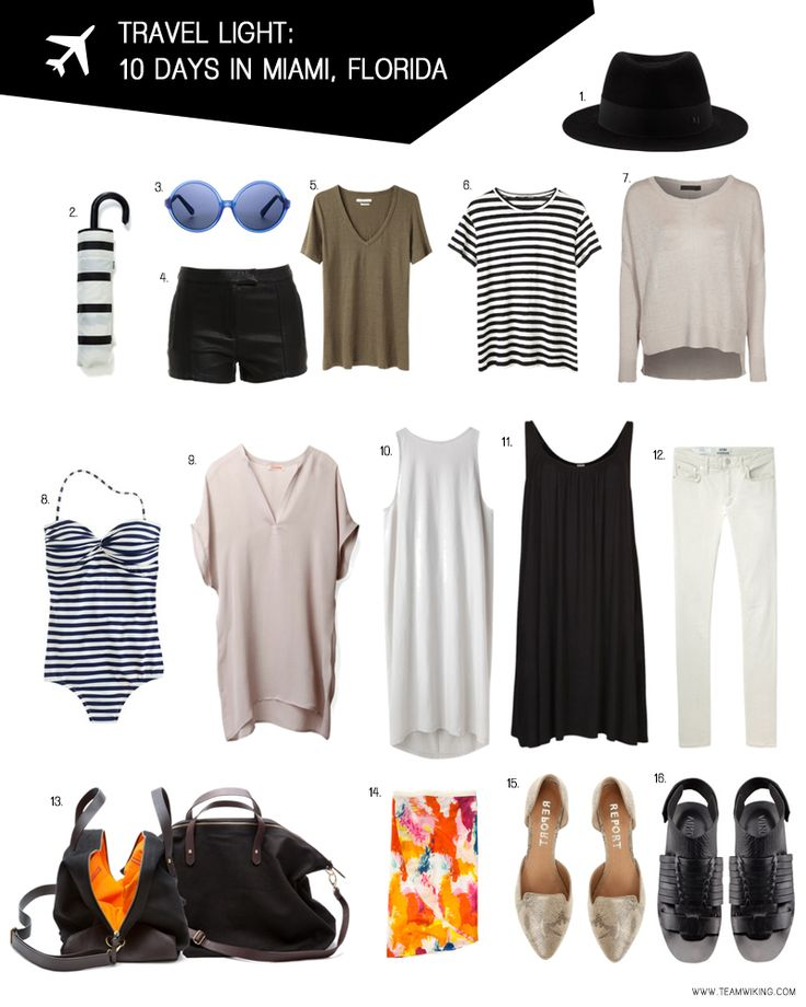 How to pack in just a carryon! - Travel Light: 10 Days in Miami, Florida