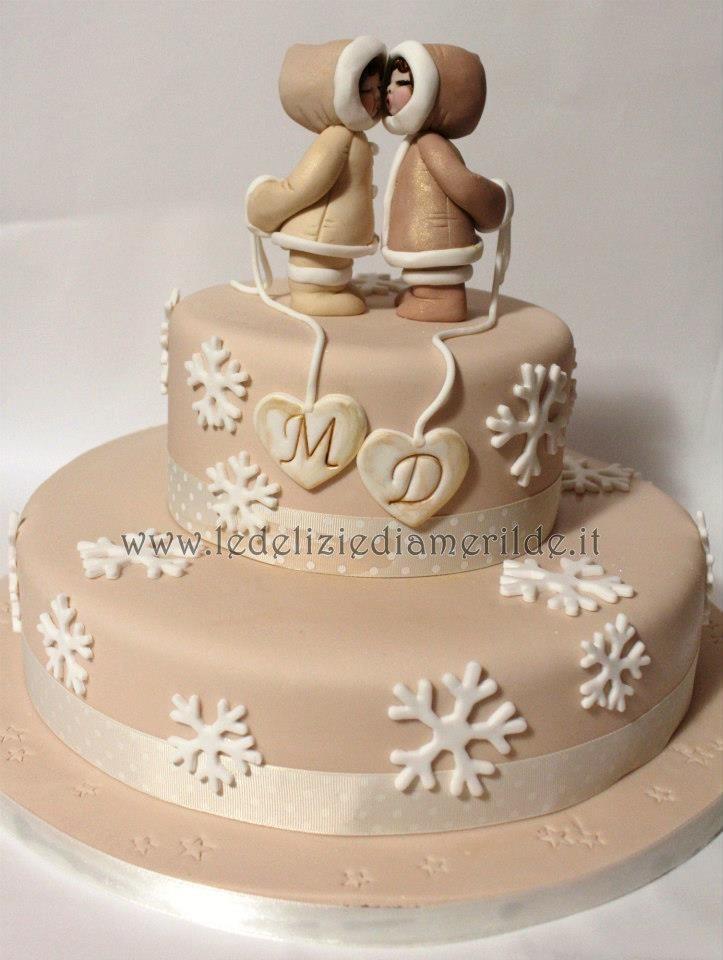Winter Wedding Cake by Le Delizie di Amerilde