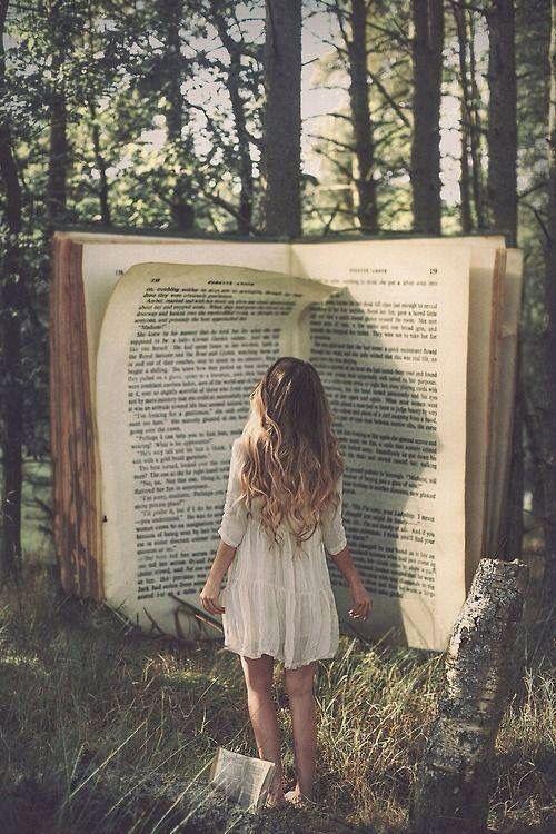 Leyendo, vemos a detalle el bosque, disfrutando de la sombra y el aroma de cada árbol.