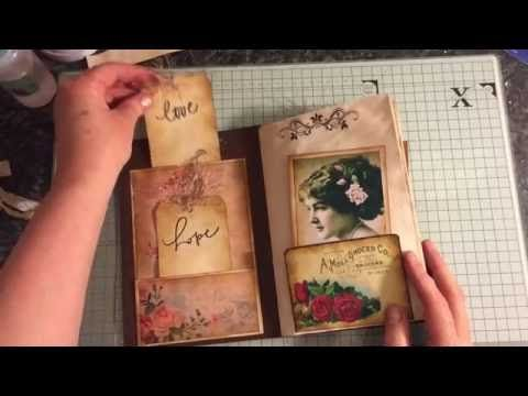 Vintage journal #junkjournals #junkjournaljunkies - YouTube