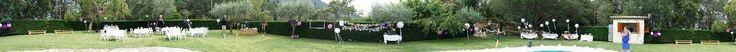 Toda la puesta en escena de la boda, foto panaromica !!
