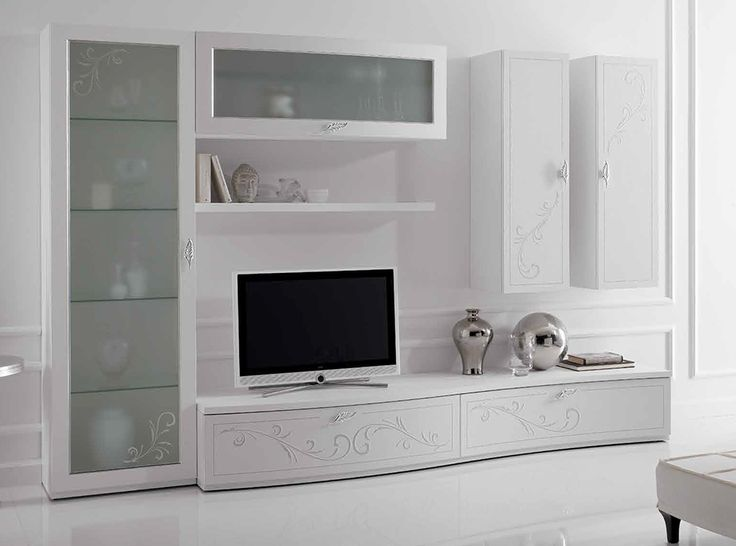 Italian Wall Unit Prestige Liberty 107 White by Spar - $6,325.00