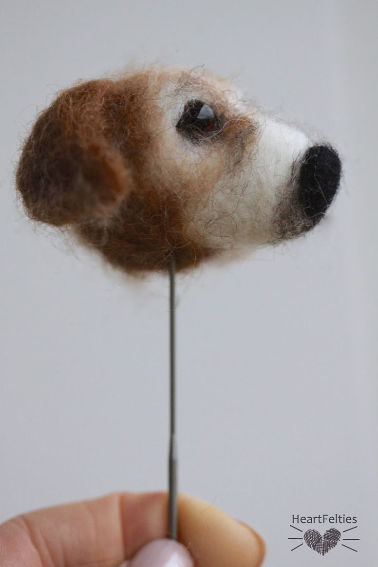 HeartFelties: All in the face - Jack Russell needle felted dog head