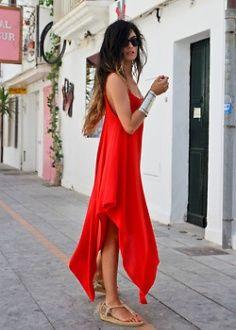 Maxi Red Summer Dress