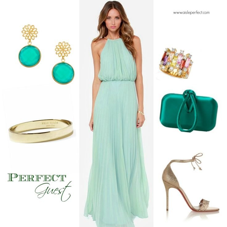 Summer Wedding Guest Mint Maxi DressesBeach