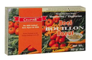 Use for soups, stews, sauce and for flavouring rice or pasta dishes. Made with organic non-sulfited vegetables, strictly non irradiated spices and contain no genetically modified ingredients. Celifibr Soup Bases are wheat free, gluten free, cholesterol free, vegan approved, and contain no hydrogenated oil or active yeast.
