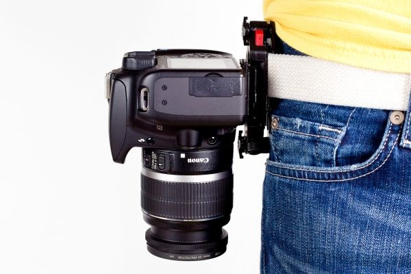 The Capture Camera Clip.  Can attach to purse strap, etc., too!  Easy access to camera.  Love it!