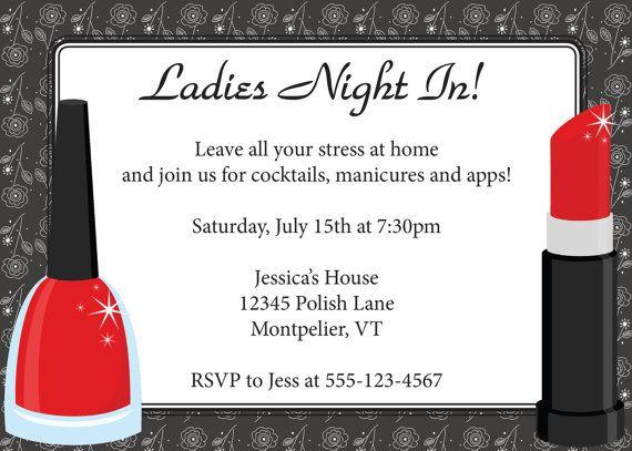 Ladies Night In Invitation DIY