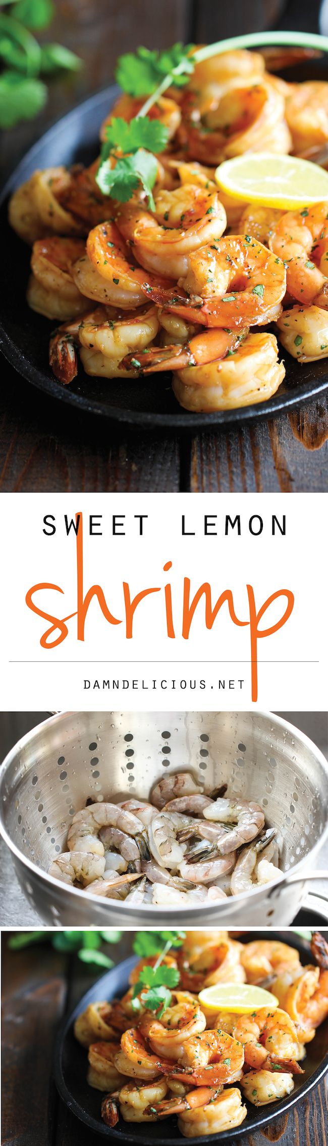 entree : Sweet Lemon Shrimp - The easiest, most simple and flavorful shrimp marinated in a sweet and tangy lemon sauce that everyone will love!| protein