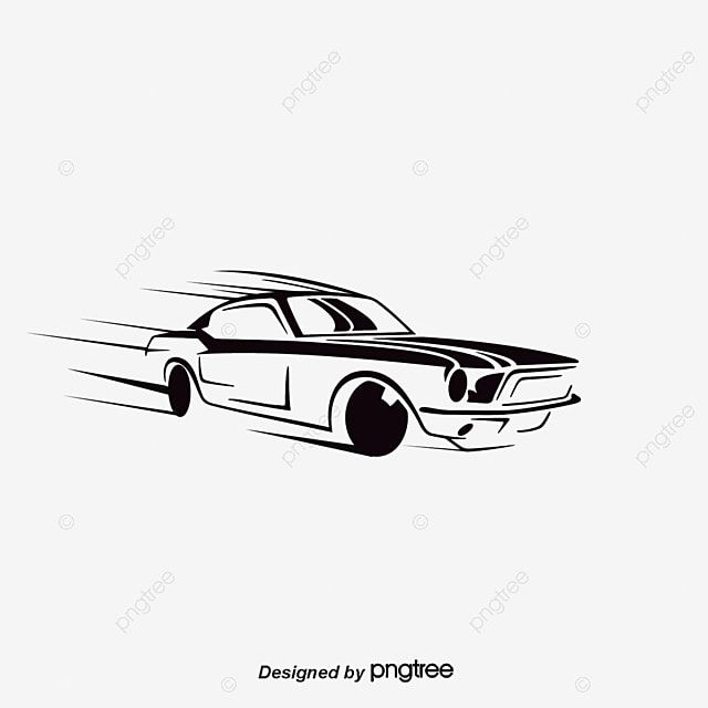 Vector Car Car Clipart Hand Painted Sports Car Png Transparent Clipart Image And Psd File For Free Download Car Silhouette Car Vector Red Sports Car