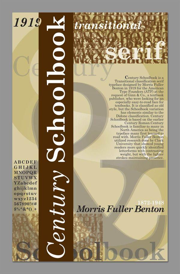 Century Schoolbook Type Poster by Adrienne Saldivar
