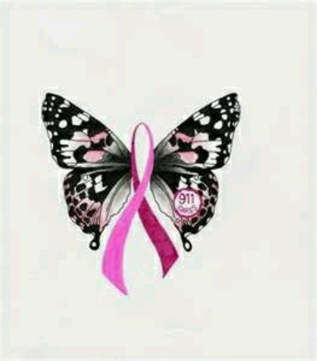 Butterfly cancer ribbon | Breast Cancer | Pinterest ...
